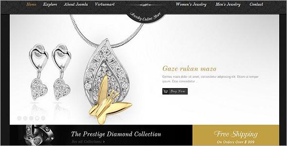 Luxury Jewelry VirtuMart Theme
