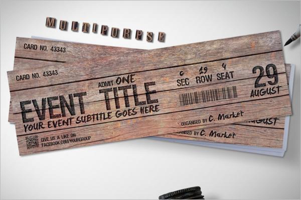 Magical Wood Ticket Mockup