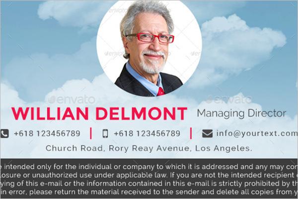 Managing DirectorEmail Signature Template