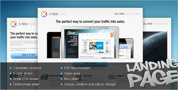 Marketing Landing Page Video Template