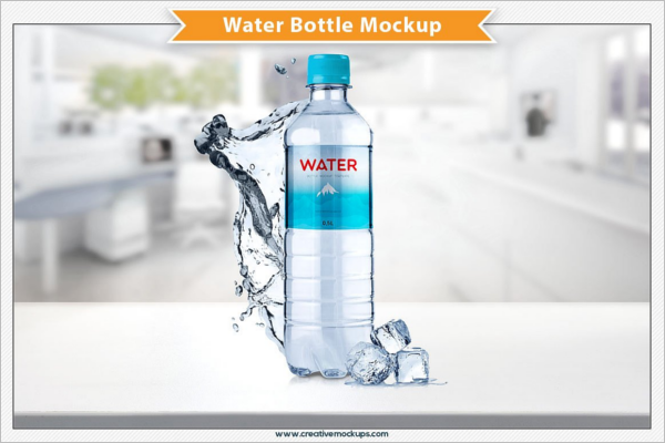 Marketing Plastic Bottle Mockup