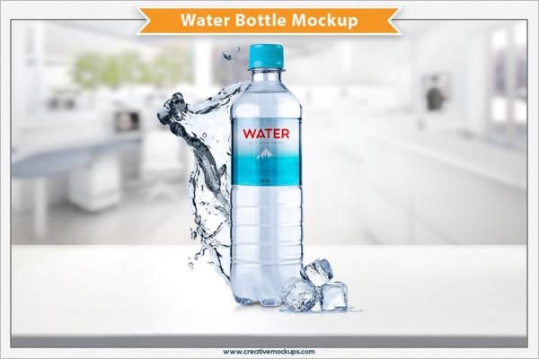 Marketing Plastic Bottle Mockup