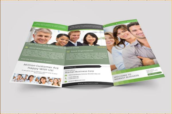 Marketing Trifold Brochure Template