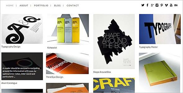 Masonry Grid Style WordPress Theme