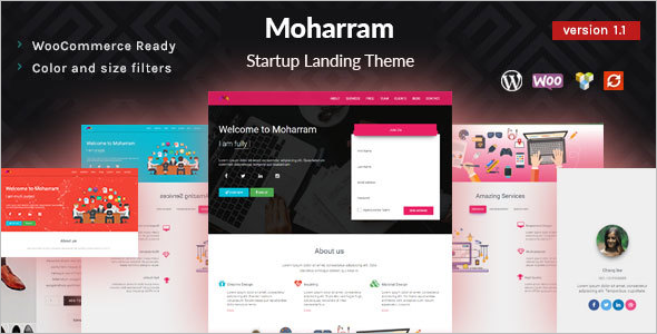 Material Design Startup WordPress Theme