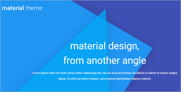Material Design WordPress Theme
