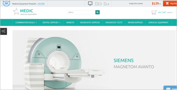 Medic Medical Equipment PrestaShop Theme