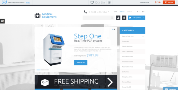 Medical Appliances PrestaShop Theme