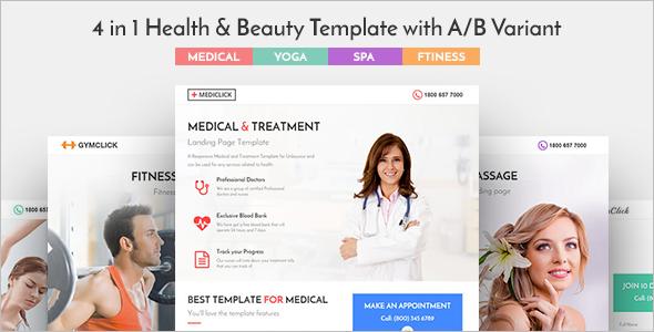 Medical Landing Page WordPress Theme