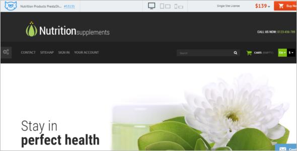 Medical Nutrition Products PrestaShop Theme