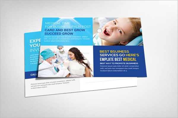 Medical Postcard Template