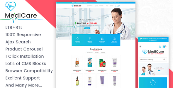 Medicine Store Prestashop Responsive Theme