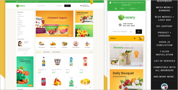 Mega Grocery Prestashop Theme