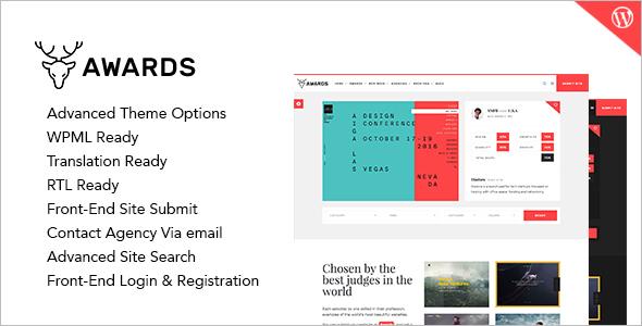 Awards Affiliate Program WordPress Template