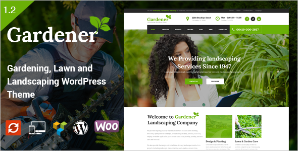 Minimal Agriculture WordPress Theme
