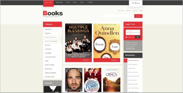Minimal Book Store VirtueMart Template