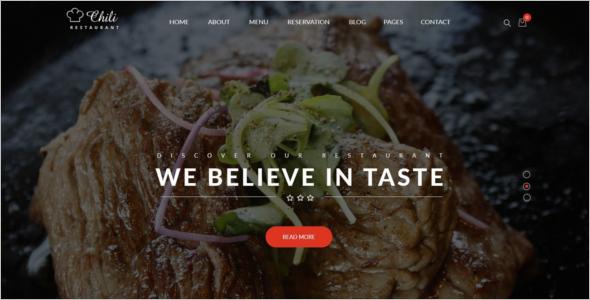 Minimal Catering WordPress Template