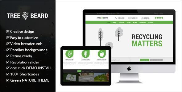Minimal Environmental WordPress Theme