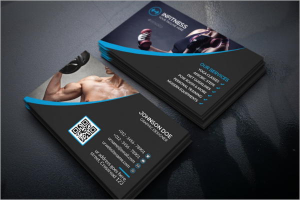 Gym Business Card Templates Free Psd