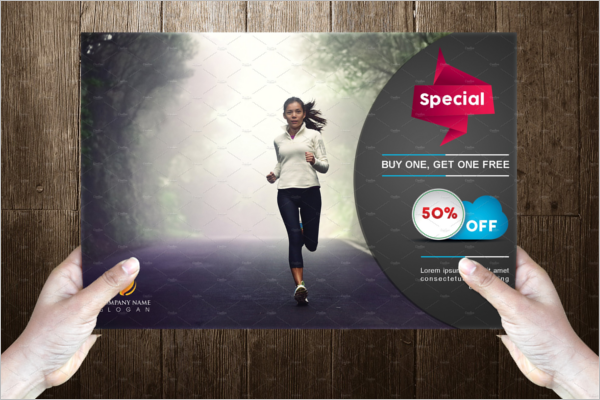Minimal Fitness Post Card Template