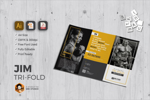 Minimal GYM Brochure Design