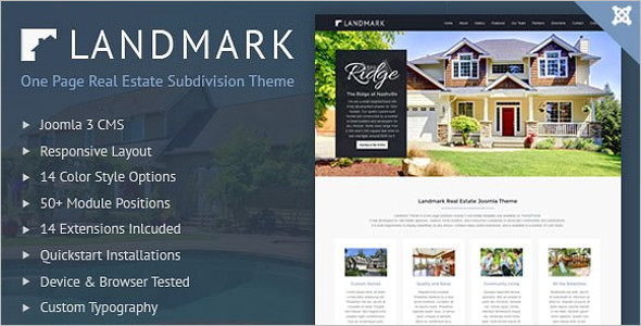 Minimal Real Estate Landing Page Template