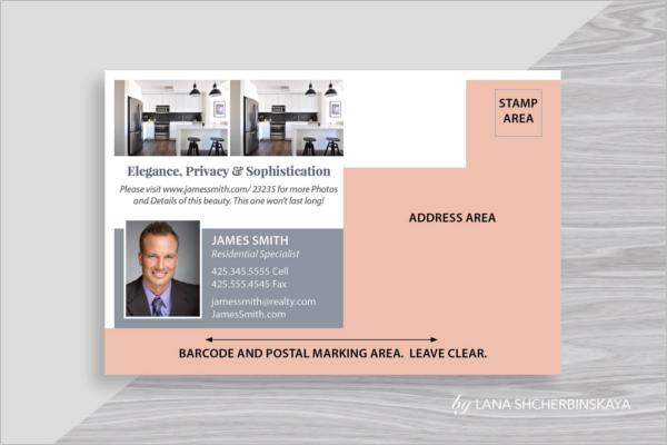 Minimal Real Estate Postcard Template