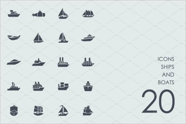 Minimal Ship Art Vector Design