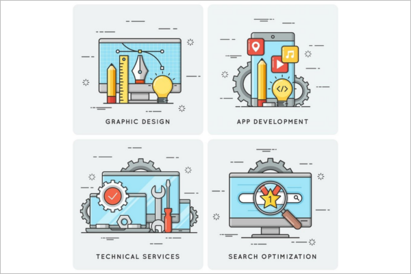 Mobile App Marketing Banner Template