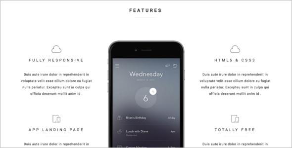 Mobile Landing Page Full screen Theme