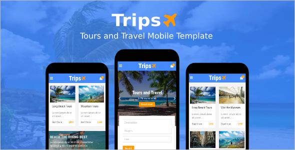 Mobile Tours Museum WordPress Template