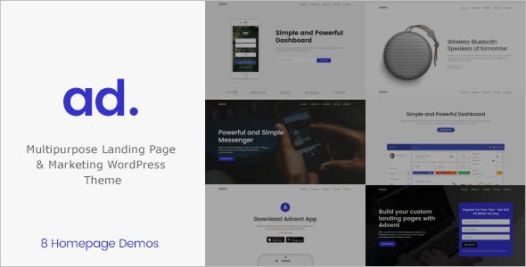 Mobile marketing Landing Page Theme