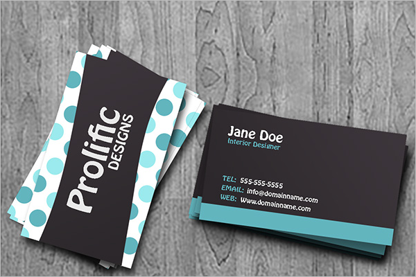 Model Interior Business Card