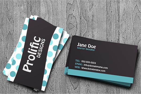 Model Interior Business Card