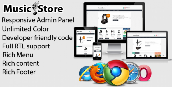 Model Music Store Prestashop Theme