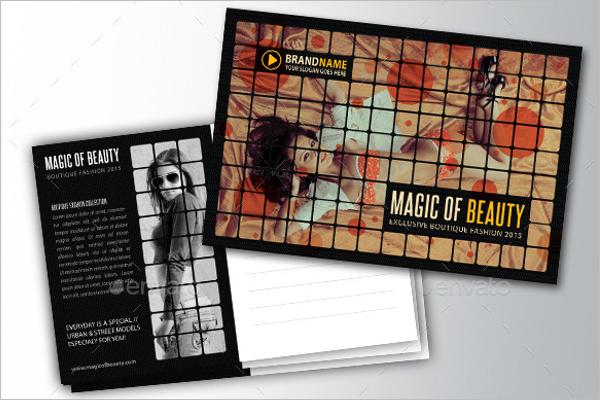 Model Postcard Design