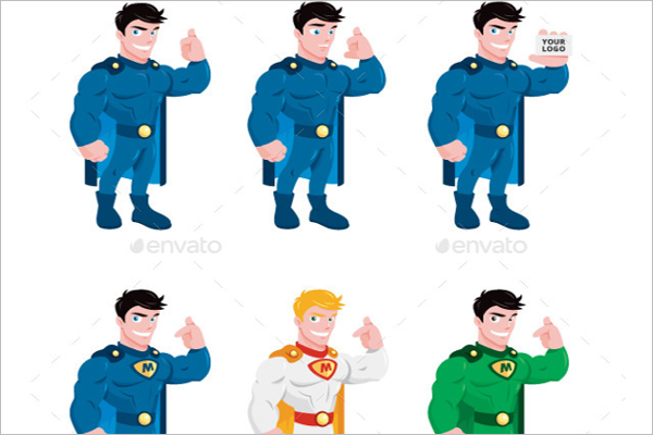 Model Super Hero Cartoon Design