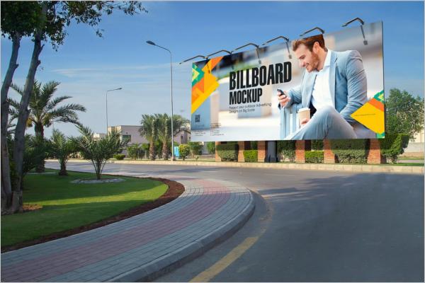 Modern Billboard Mockup PSD Template