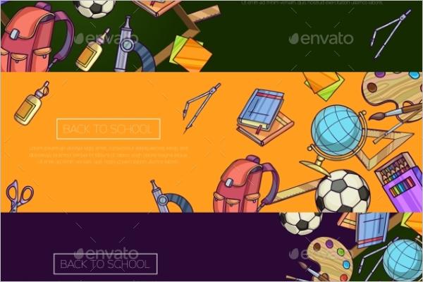 Modern Cartoon Banner Template