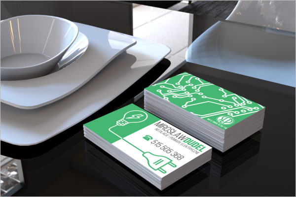 Modern Electric Business Card