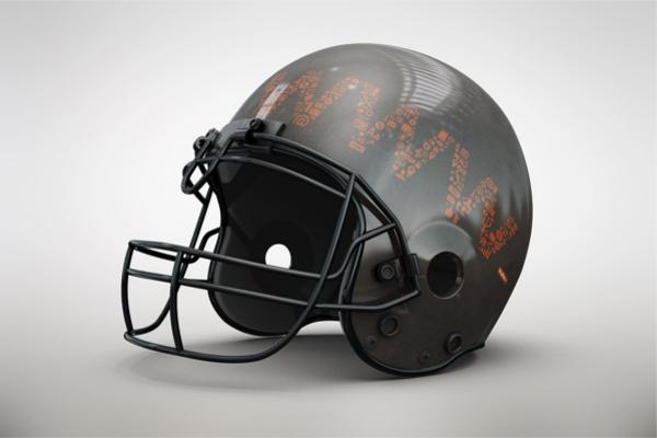 Modern Football Helmet MockUp