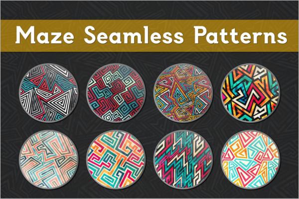 Modern Hipster Seamless Pattern