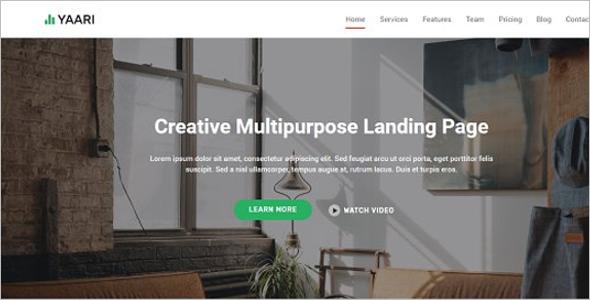 Modern Landing Page Theme