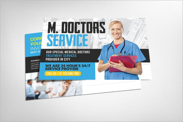 Modern Medical Postcard Design