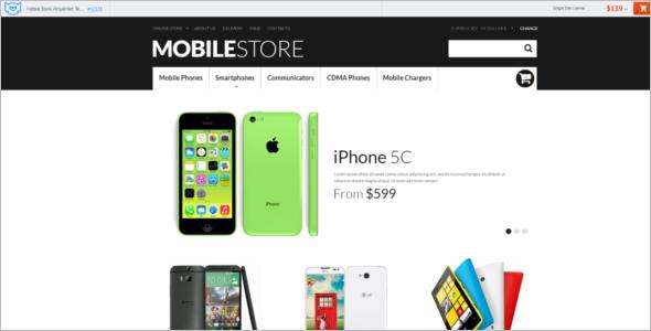Modern Mobile Store VirtueMart Template
