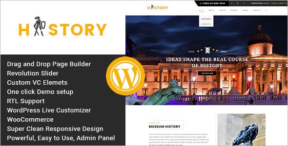Modern Museum WordPress Template