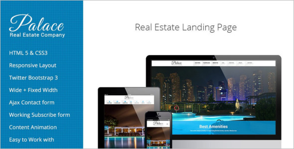 Modern Real Estate Landing Page Theme