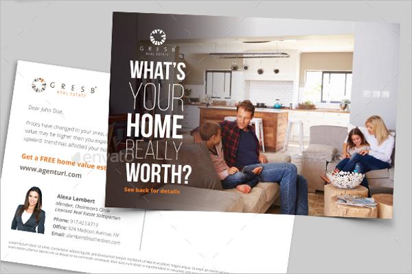 Modern Real Estate Postcard Design