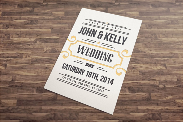 Modern Wedding Postcard Design