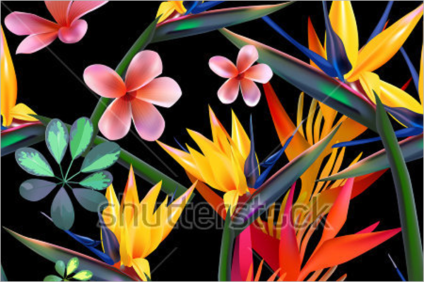 Modern Wildlife Tropical Pattern